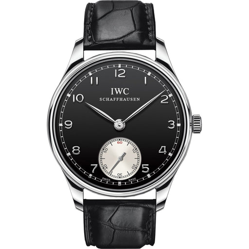 IWC Men's IW545404 Portuguese Black Leather Watch