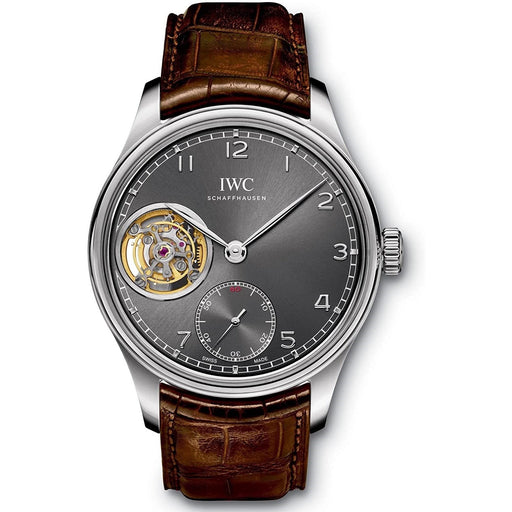 IWC Men's IW546301 Portugieser Brown Leather Watch
