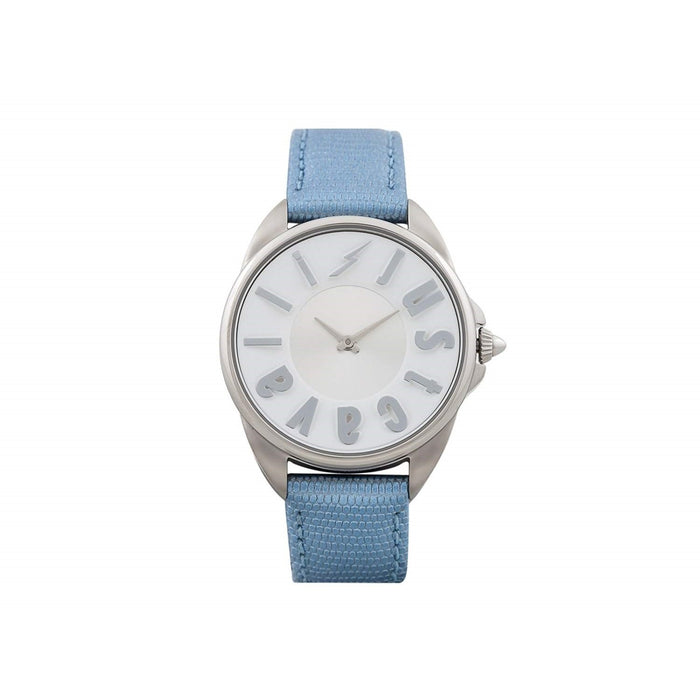 Just Cavalli Women's JC1L008L0025 Logo Blue Leather Watch
