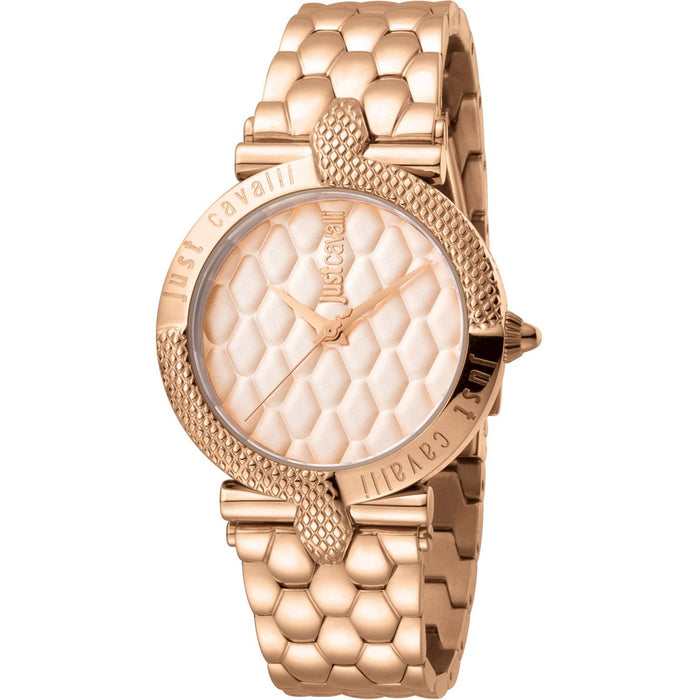 Just Cavalli Women's JC1L047M0075 Carattere Rose Gold-Tone Stainless Steel Watch