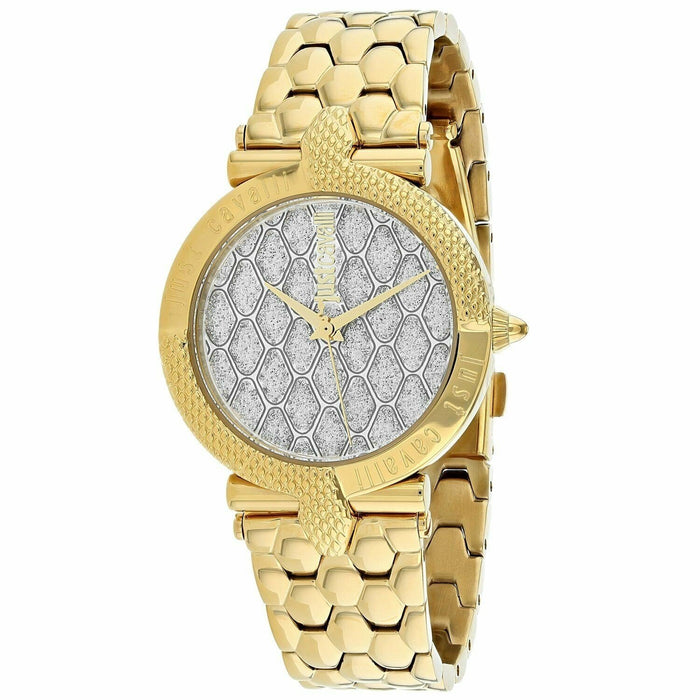 Just Cavalli Women's JC1L047M0105 Carattere Gold-Tone Stainless Steel Watch