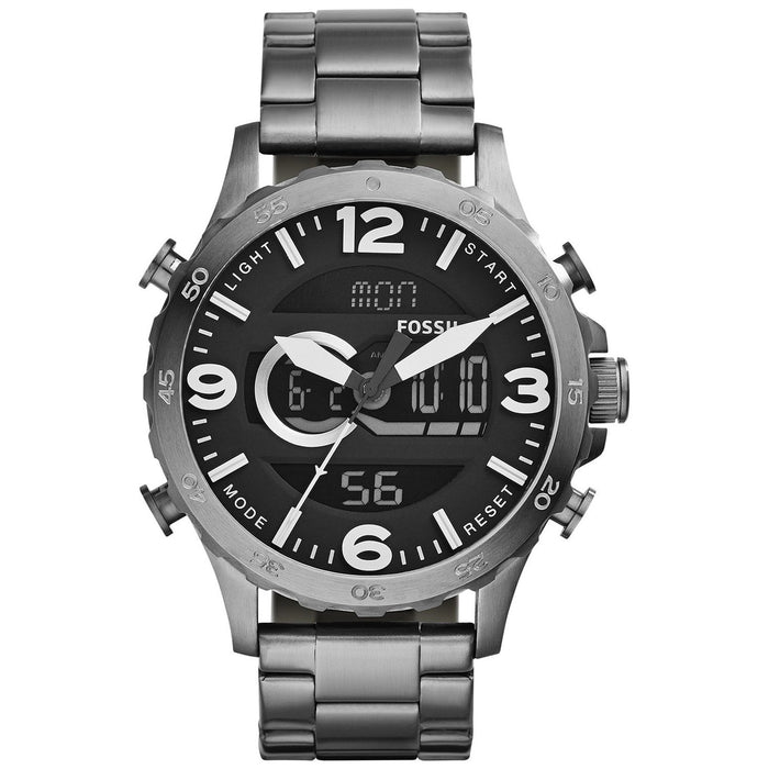 Fossil Men's JR1491 Nate Black Stainless Steel Watch