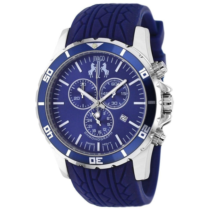 Jivago Men's JV0125 Ultimate Chronograph Blue Silicone Watch
