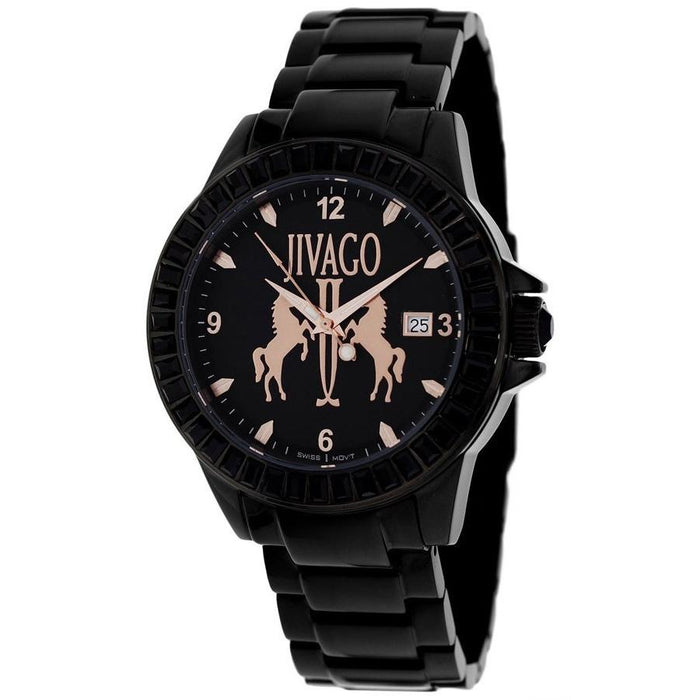 Jivago Women's JV4211 Folie Black Stainless Steel Watch