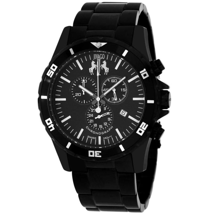 Jivago Men's JV6120 Ultimate Chronograph Black Stainless Steel Watch