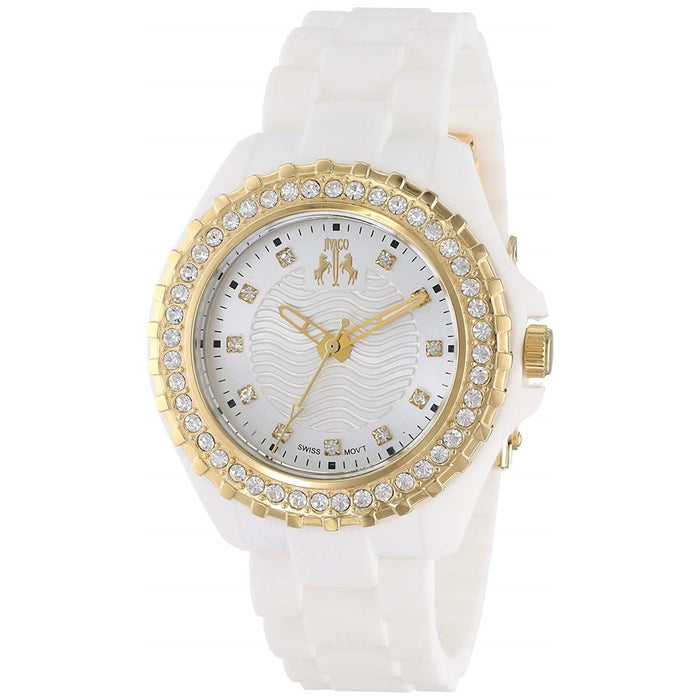 Jivago Women's JV8214 Cherie Crystal White Silicone Watch