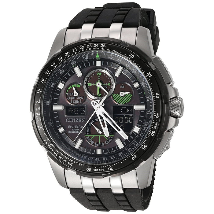 Citizen Men's JY8051-08E Skyhawk A-T Chronograph Black Rubber Watch