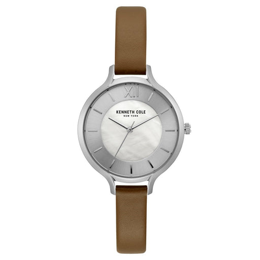 Kenneth Cole Women's KC15187005 Classic Brown Leather Watch