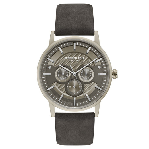 Kenneth Cole Men's KC15203002 Classic Grey Leather Watch