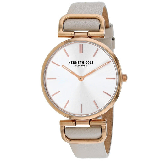 Kenneth Cole Women's KC50509001 Classic Beige Leather Watch