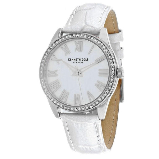 Kenneth Cole Women's KC50941001 Classic White Leather Watch