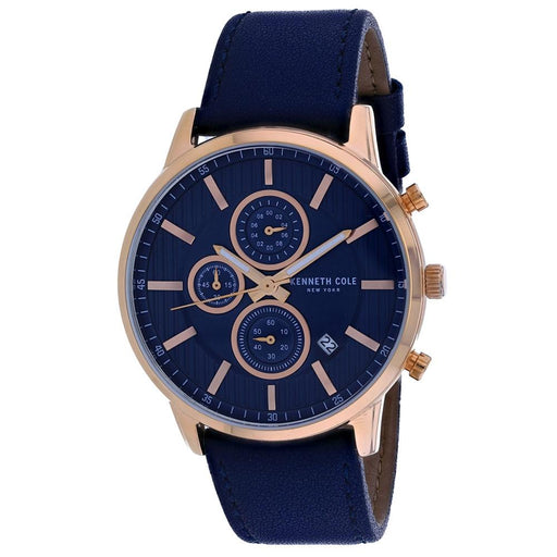 Kenneth Cole Men's KC50944003 Classic Blue Leather Watch