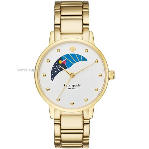 Kate Spade Women's KSW1072 Metro Moonphase Gold-tone Stainless Steel Watch
