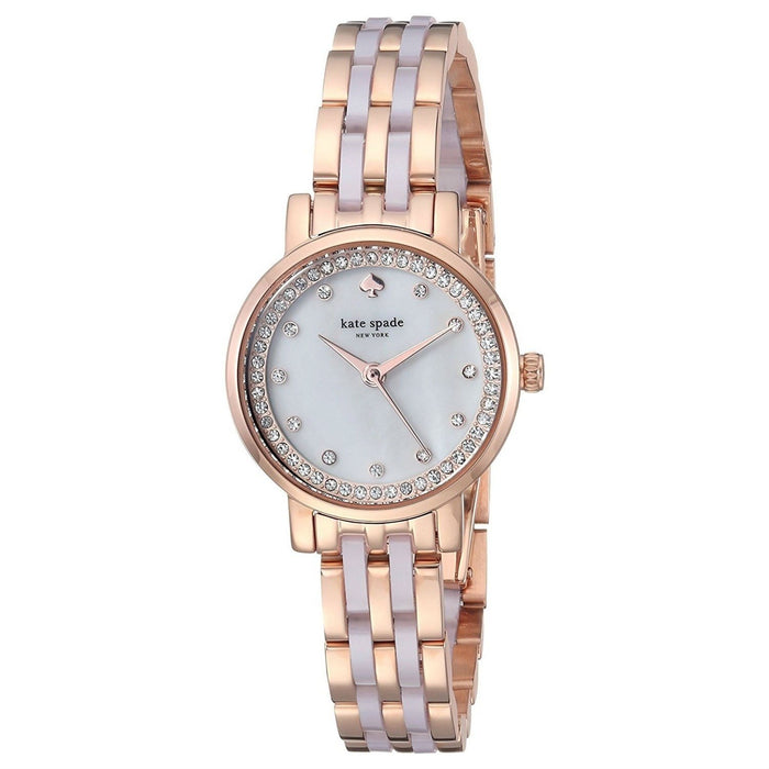 Kate Spade Women's KSW1265 Mini Monterey Two-Tone Stainless Steel with Blush Pink Acetate Watch