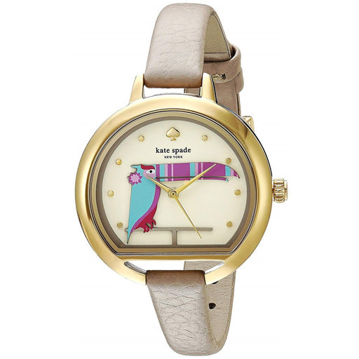 Kate Spade Women's KSW1328 Kenmare Fish Bowl Brown Leather Watch
