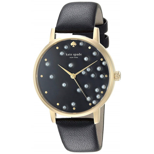 Kate Spade Women's KSW1395 Metro Black Leather Watch