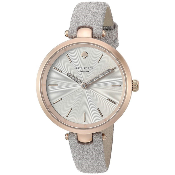 Kate Spade Women's KSW1474 Holland Grey Leather Watch