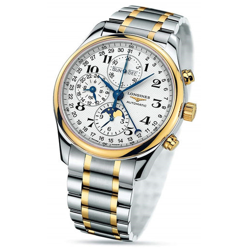 Longines Men's L2.773.5.78.7 Master Complications Chronograph Two-Tone 18kt Gold and Stainless Steel Watch