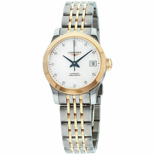Longines Women's L23205877 Record Two-Tone Stainless Steel Watch