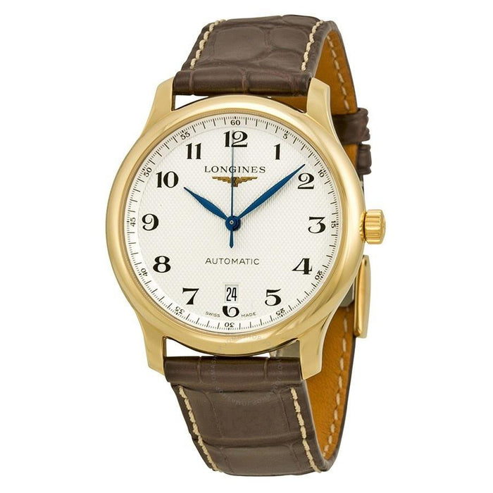 Longines Men's L26286783 Master Collection 18kt Yellow Gold Automatic Brown Leather Watch