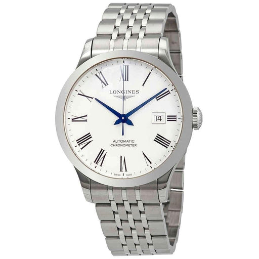 Longines Men's L28214116 Record Stainless Steel Watch