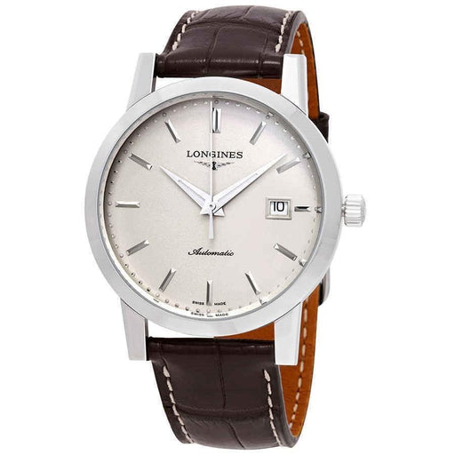 Longines Men's L48254922 Heritage  Brown Leather Watch