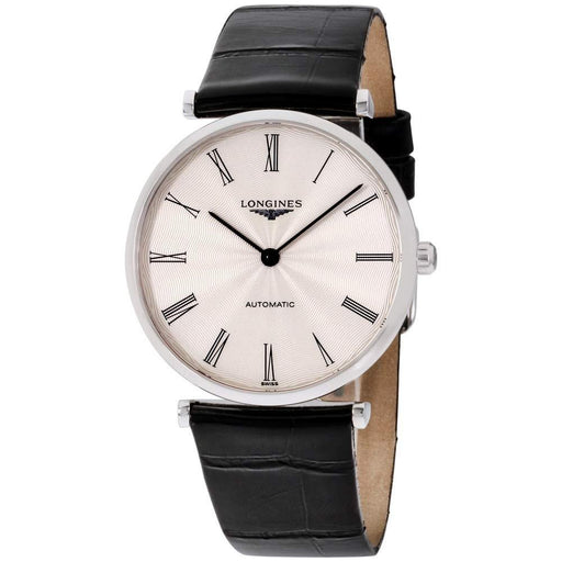 Longines Men's L49084712 La Grande Classique Black Leather Watch