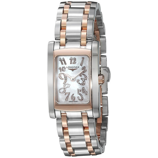 Longines Women's L51555977 Dolce Vita 18kt Pink Gold Diamond Two-Tone Stainless Steel Watch