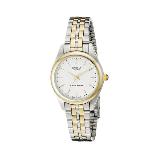 Casio Women's LTP-1129G-7A Two-Tone Stainless Steel Watch