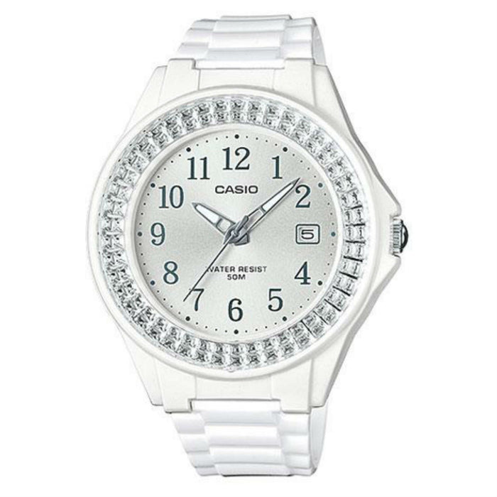 Casio Women's LX500H-7B2 Standard White Resin Watch