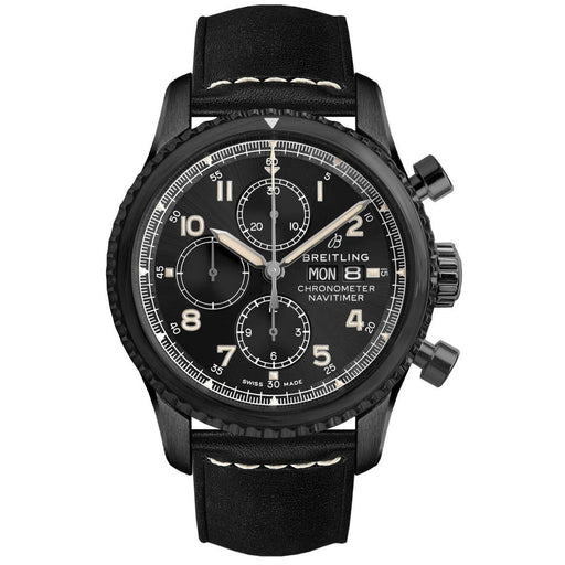 Breitling Men's M1331410-BG67-487X Navitimer 8 Chronograph Black Leather Watch