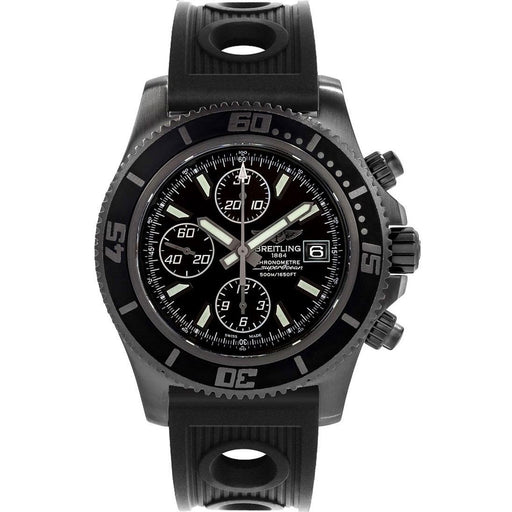 Breitling Men's M13341B7-BD11-200S Superocean Chronograph II Chronograph Black Rubber Watch