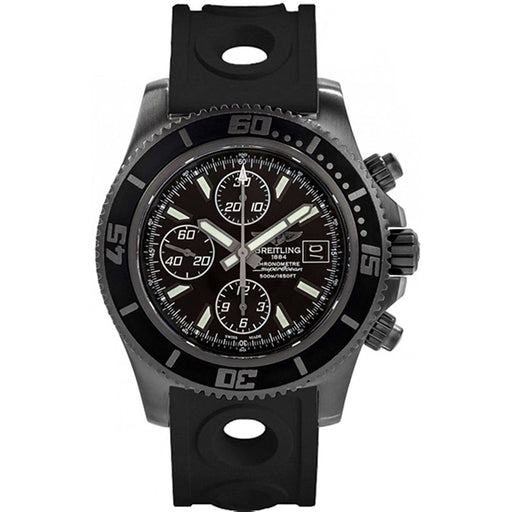 Breitling Men's M13341B7-BD11-227S Superocean Chronograph II Chronograph Black Rubber Watch