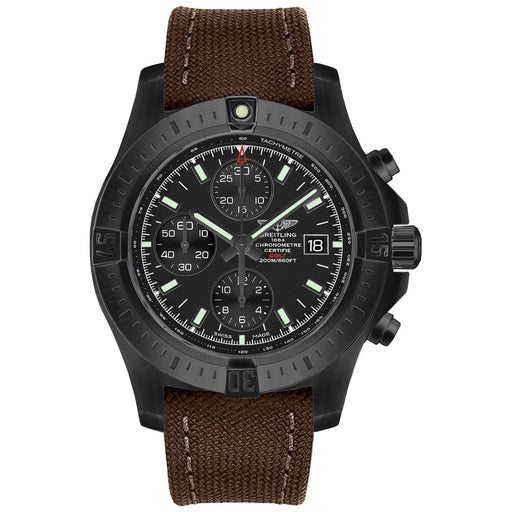 Breitling Men's M1338810-BF01-108W Colt  Chronograph Brown Canvas Watch