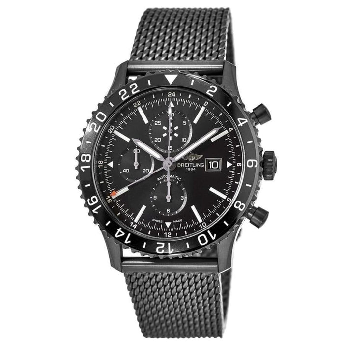 Breitling Men's M2431013-BF02-159M Chronoliner  Chronograph Black Stainless Steel Watch