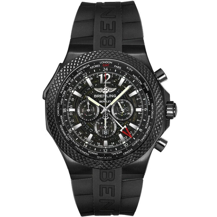 Breitling Men's M4736225-BC76-222S Bentley GMT Chronograph Black Rubber Watch
