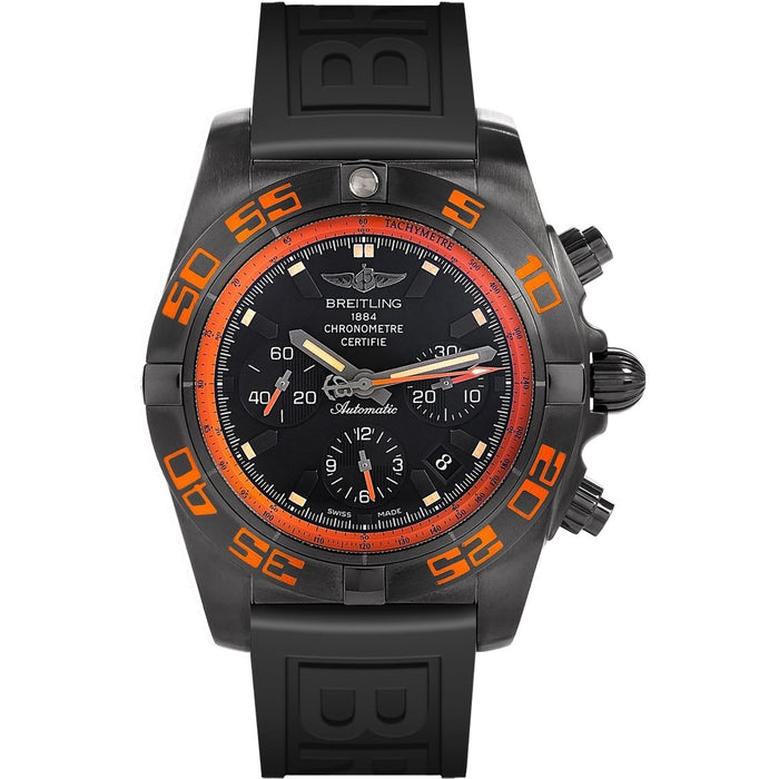 Breitling Men's MB0111C2-BD07 Chronomat 44 Raven Chronograph Automatic Black Rubber Watch