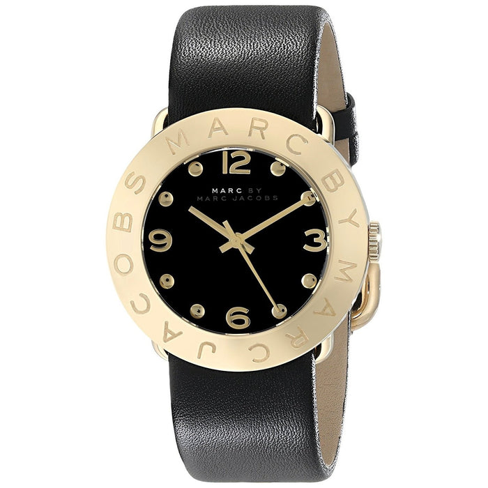 Marc Jacobs Women's MBM1154 Classic Black Leather Watch