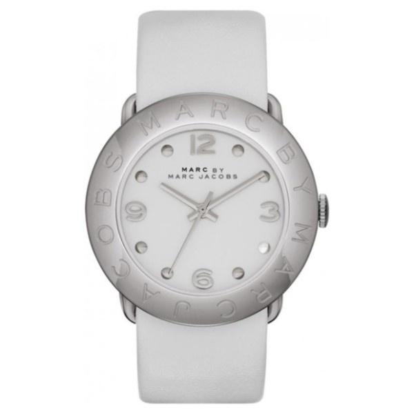 Marc Jacobs Women's MBM1223 Amy White Leather Watch
