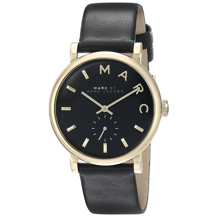 Marc Jacobs Women's MBM1269 Baker Black Leather Watch