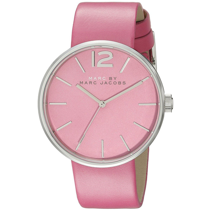 Marc Jacobs Women's MBM1363 Peggy Pink Leather Watch