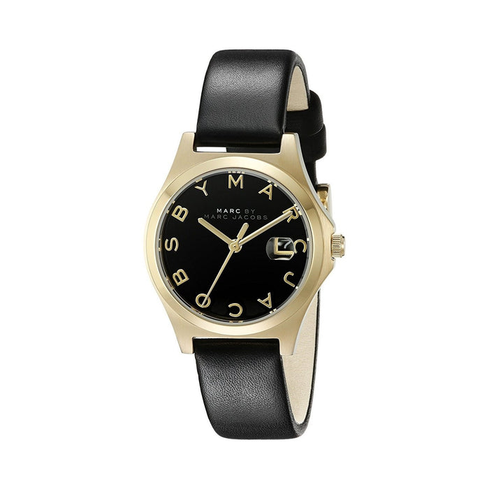 Marc Jacobs Women's MBM1374 Slim Black Leather Watch