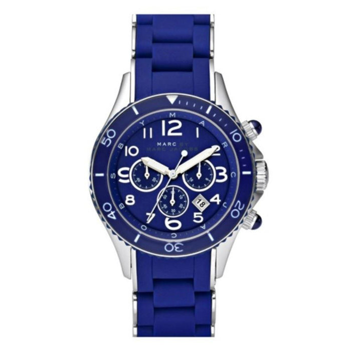 Marc Jacobs Women's MBM2548 Rock Chronograph Blue Stainless steel and Silicone Watch