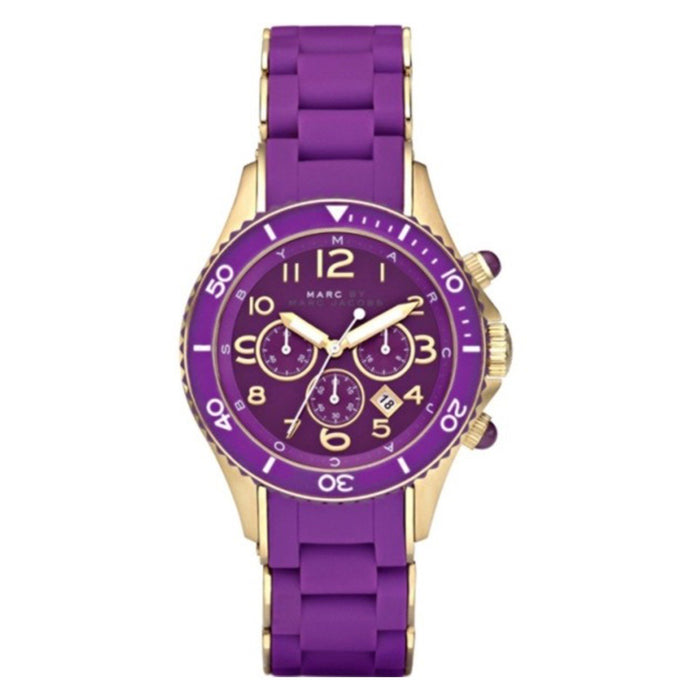 Marc Jacobs Women's MBM2549 Rock Chronograph Purple Stainless steel and Silicone Watch