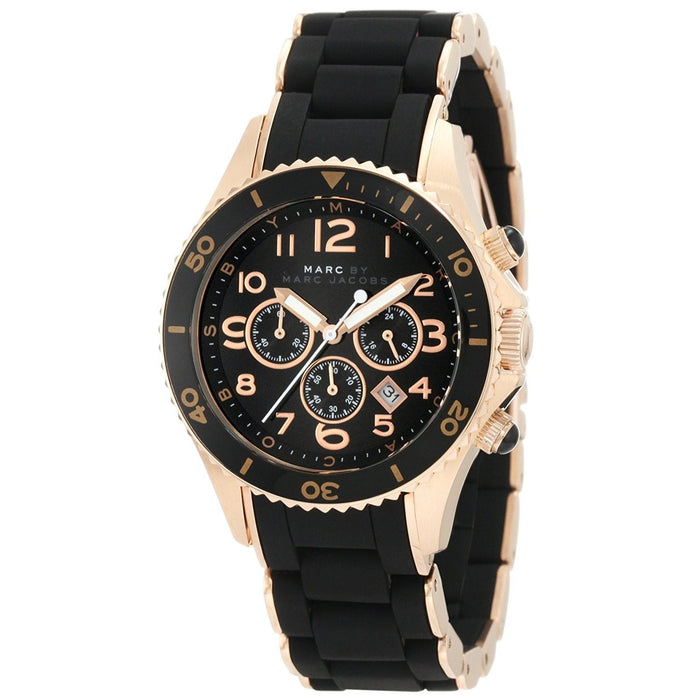 Marc Jacobs Women's MBM2553 Pelly Chronograph Black Silicone Watch
