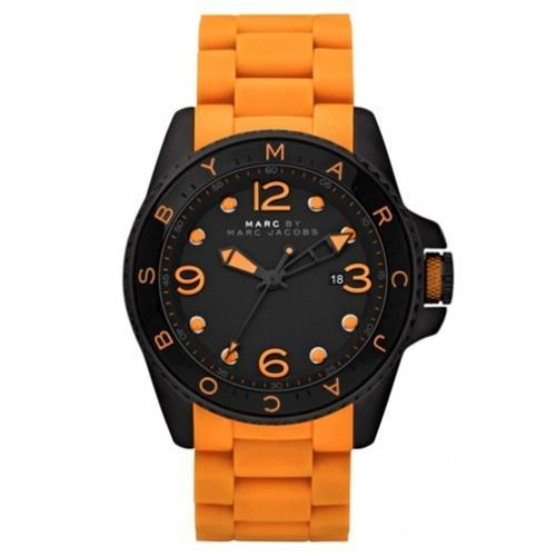 Marc Jacobs Women's MBM2587 Diver Orange Stainless steel and Silicone Watch