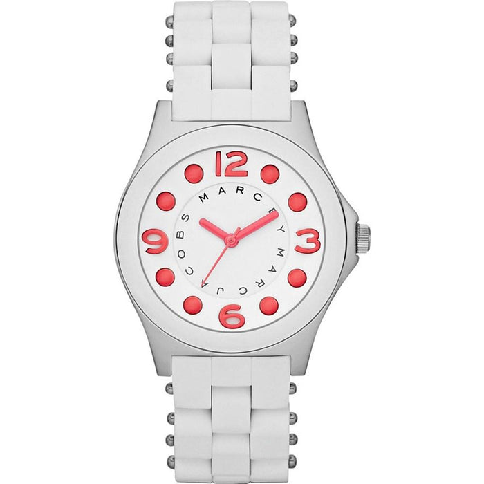 Marc Jacobs Women's MBM2588 Pelly White Stainless steel and Silicone Watch