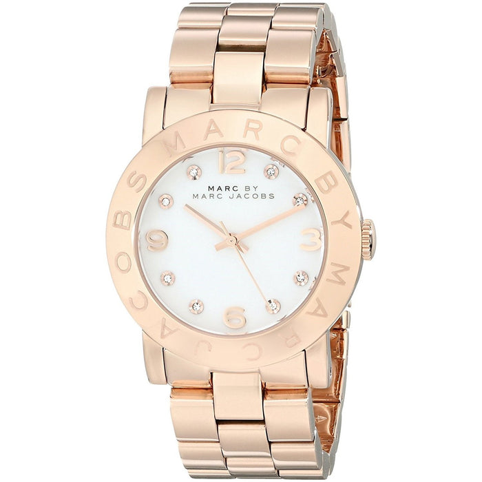 Marc Jacobs Women's MBM3077 Amy Crystal Rose-Tone Stainless Steel Watch