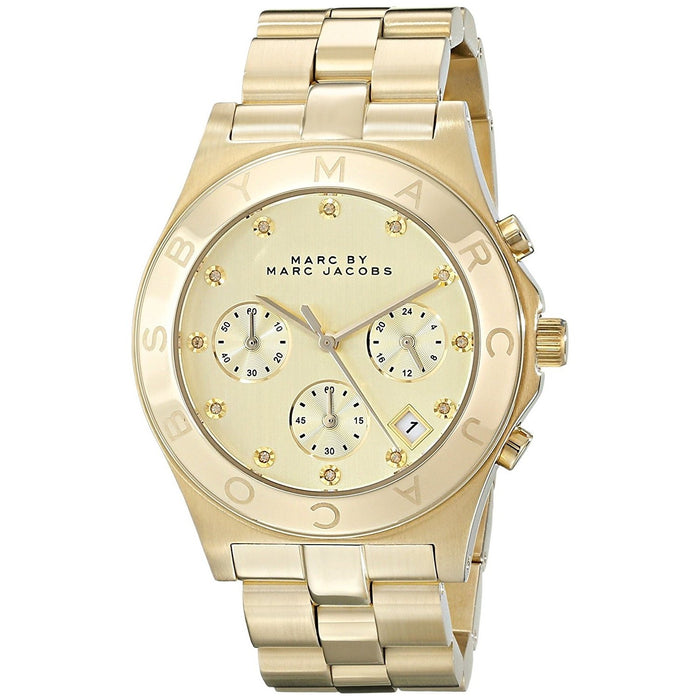 Marc Jacobs Women's MBM3101 Classic Chronograph Gold-Tone Stainless Steel Watch