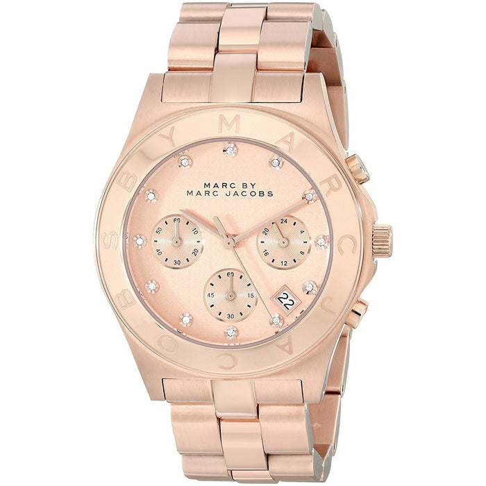 Marc Jacobs Women's MBM3102 Classic Chronograph Rose-Tone Stainless Steel Watch
